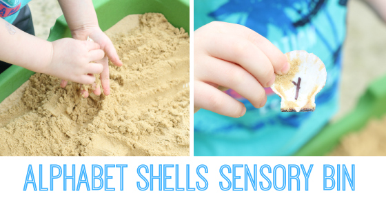 Alphabet In The Sand Shell Activity