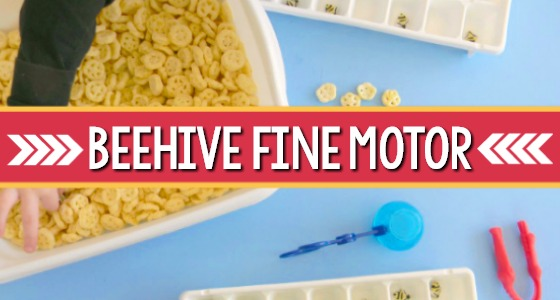 Bumble Bee Hive Fine Motor Game