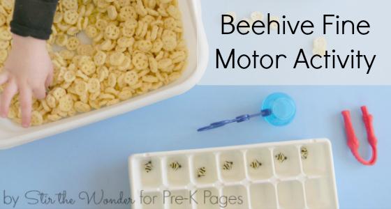 Beehive Fine Motor Activity