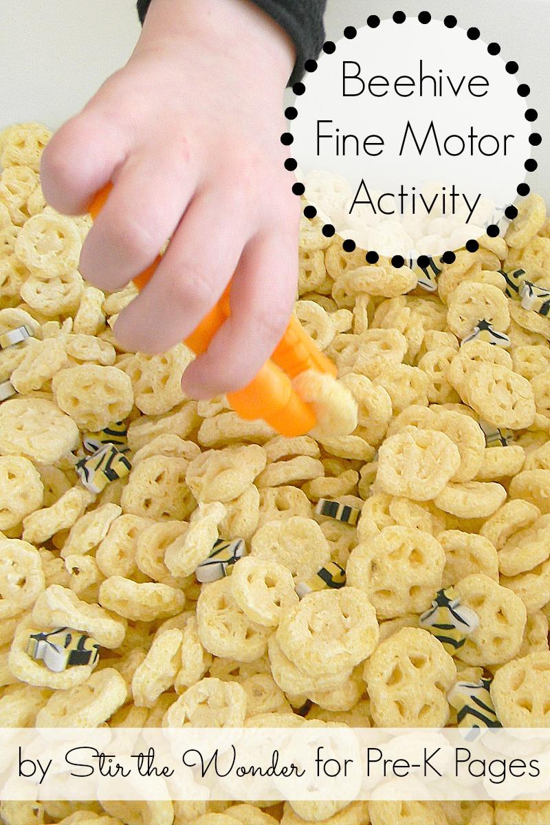 Beehive Fine Motor Activity for preschool