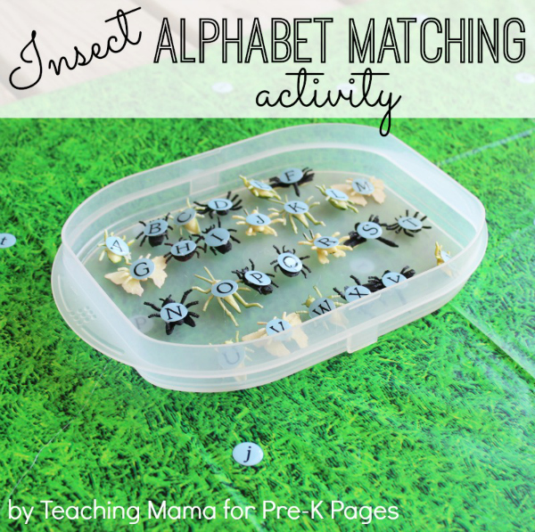 Insect Alphabet Matching Activity for preschool