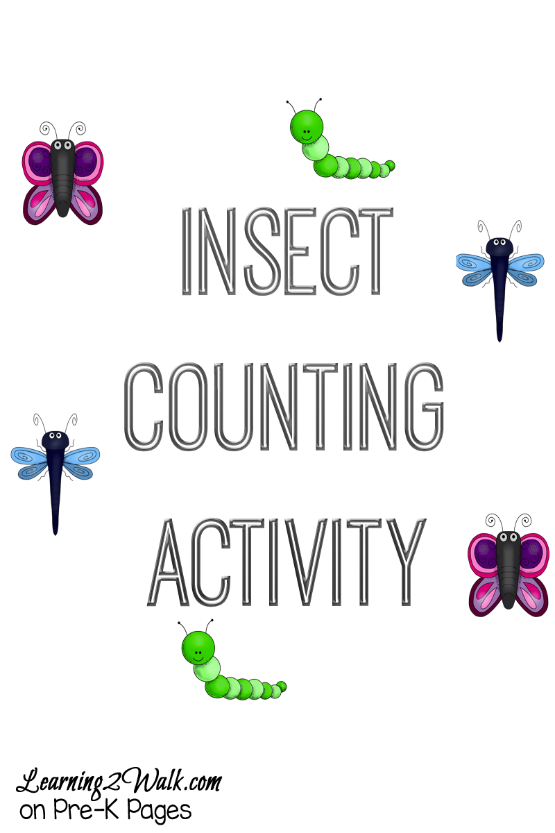Insect Counting Activity for preschool