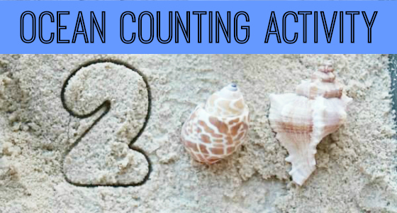 Ocean Theme Counting Activity