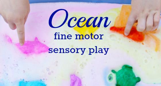Ocean Theme Fine Motor Play