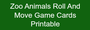 Zoo Animals Roll and Move Game Cards