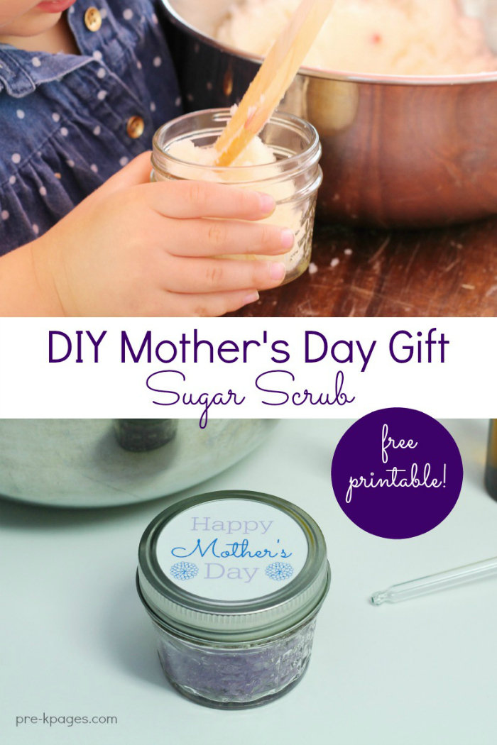 homemade mothers day sugar scrub gift