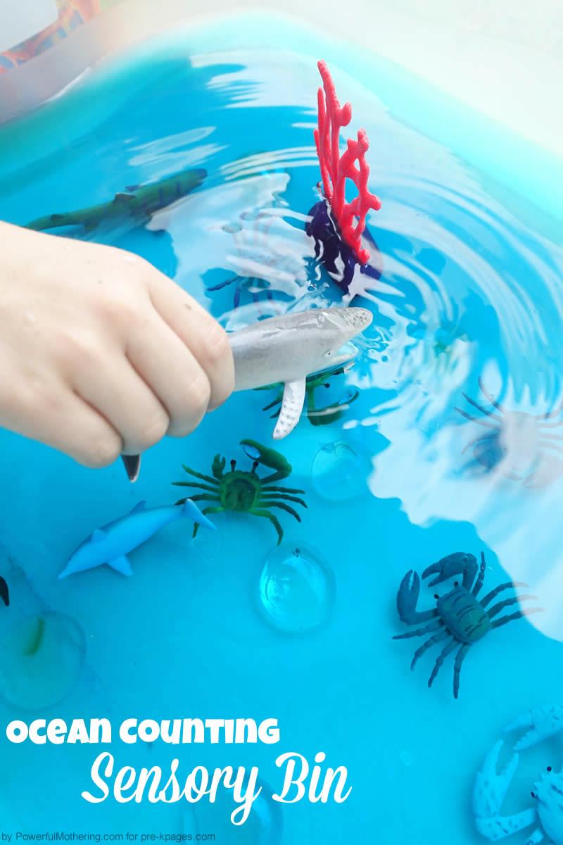 preschool ocean sensory bin