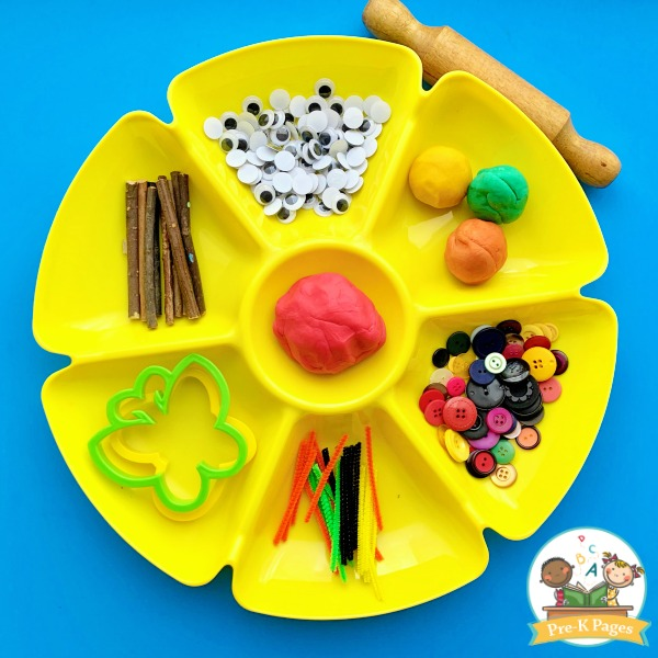 Bug Theme Play Dough Tray