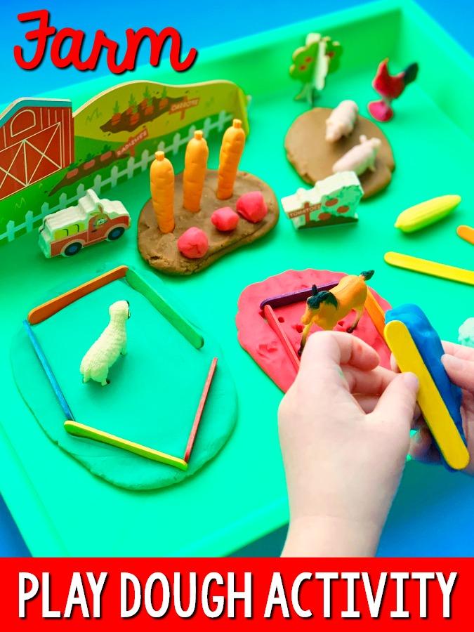 Farm Play Dough Activity for Preschoolers