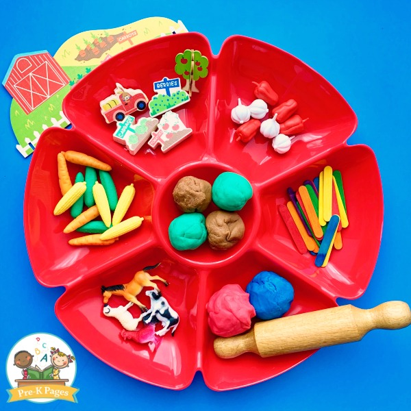 Farm Play Dough Tray