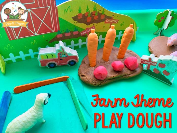 Farm Play Dough for Preschoolers