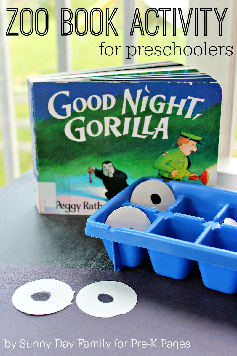 zoo book activity for preschoolers