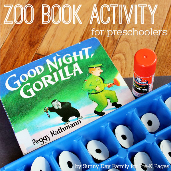 Goodnight Gorilla zoo book activity