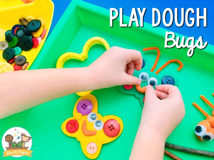 Making Bugs with Play Dough