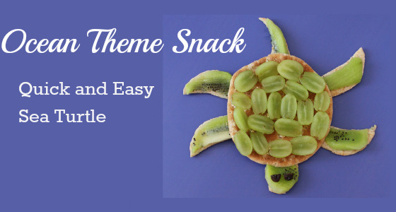 Sea Turtle Ocean Theme Snack