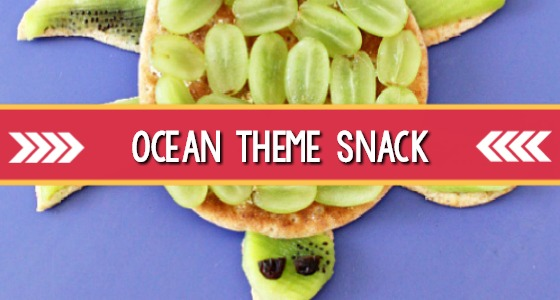 Healthy Ocean Themed Snack: Sea Turtles