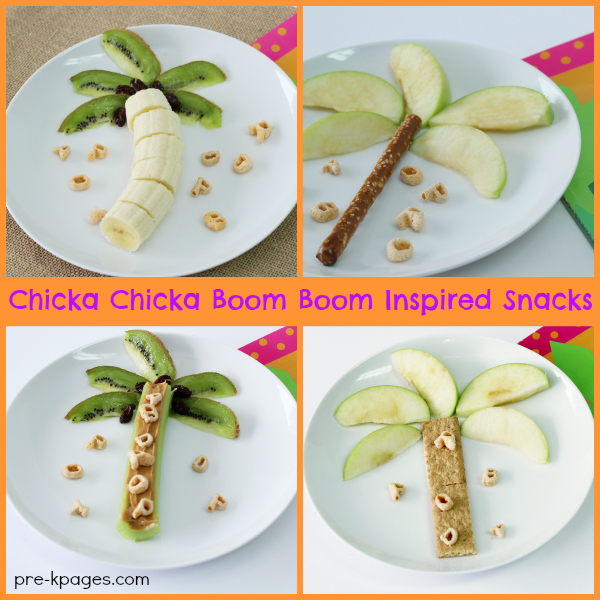 Chicka Chicka Boom Boom Inspired Snack Ideas for Preschoolers