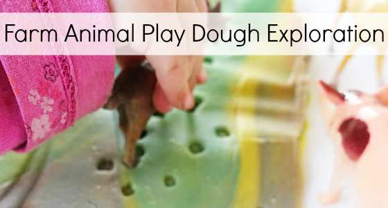 farm animal play dough exploring for preschool