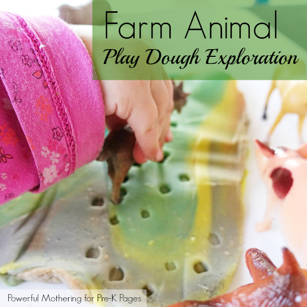 farm animal tracks in play dough