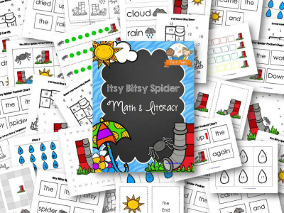 Printable Itsy Bitsy Spider Nursery Rhyme Activities for Preschool