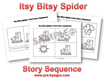 Itsy Bitsy Spider Sequence Pictures