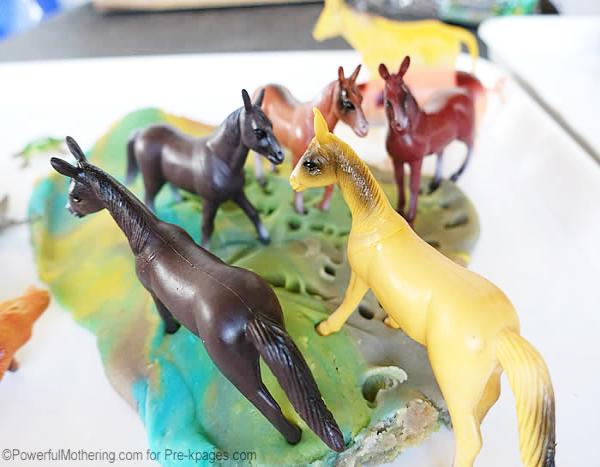 play dough horse ranch