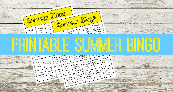 Printable Summer Bingo Activities for Preschool and Kindergarten
