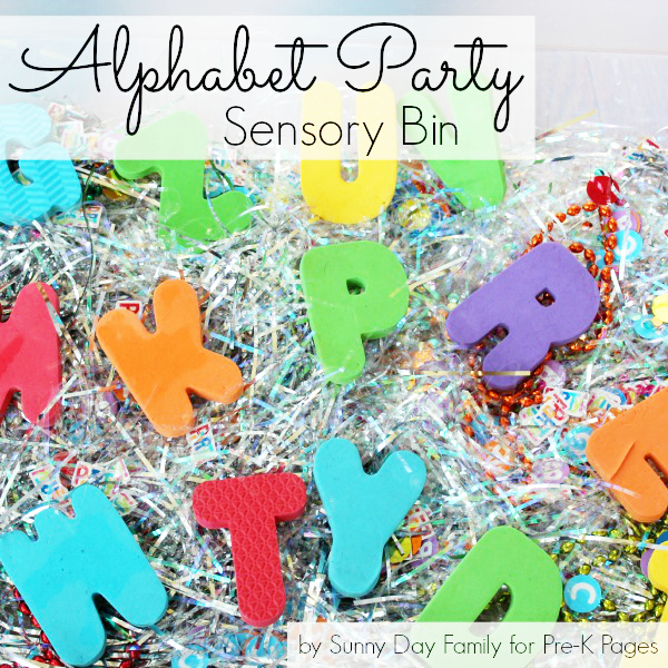 Alphabet Adventure party sensory bin