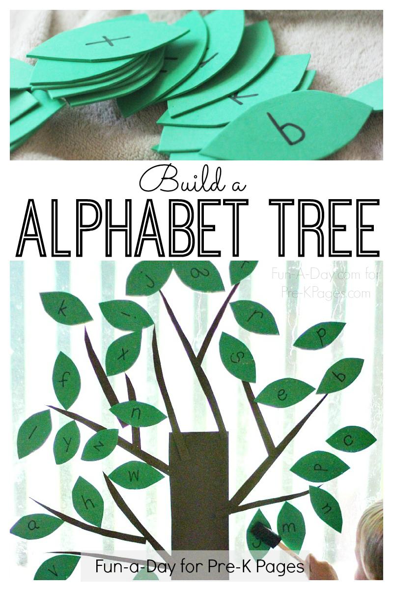 Alphabet tree activity for preschoolers