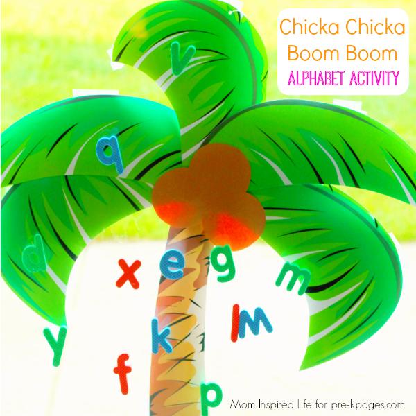 Chicka Chicka Boom Boom Alphabet Activity for preschool