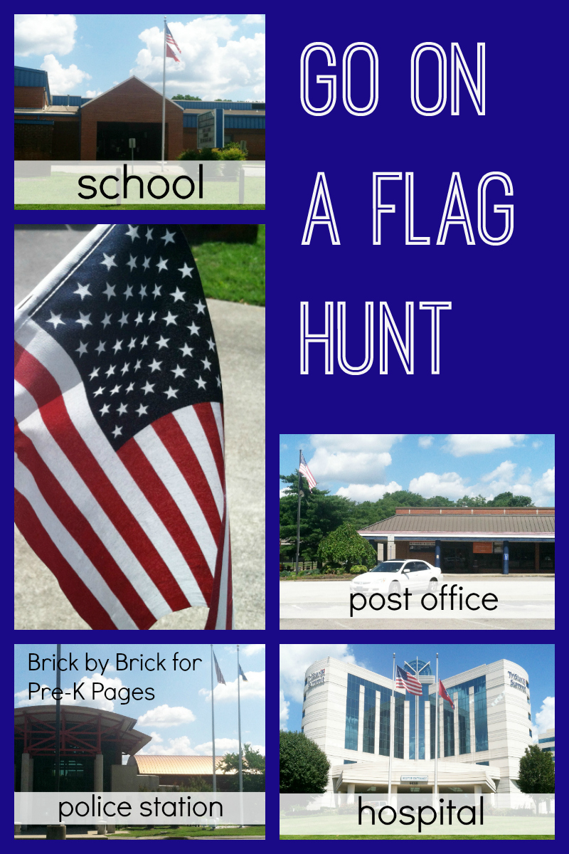 Go on a flag hunt for preschool