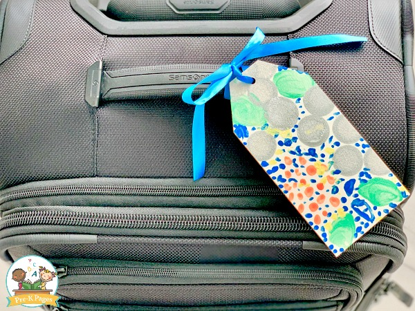 Homemade Luggage Tag for Fathers Day