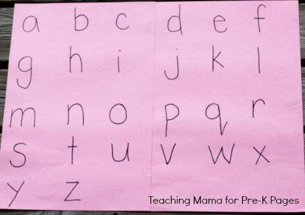 Alphabet Scavenger Hunt letters