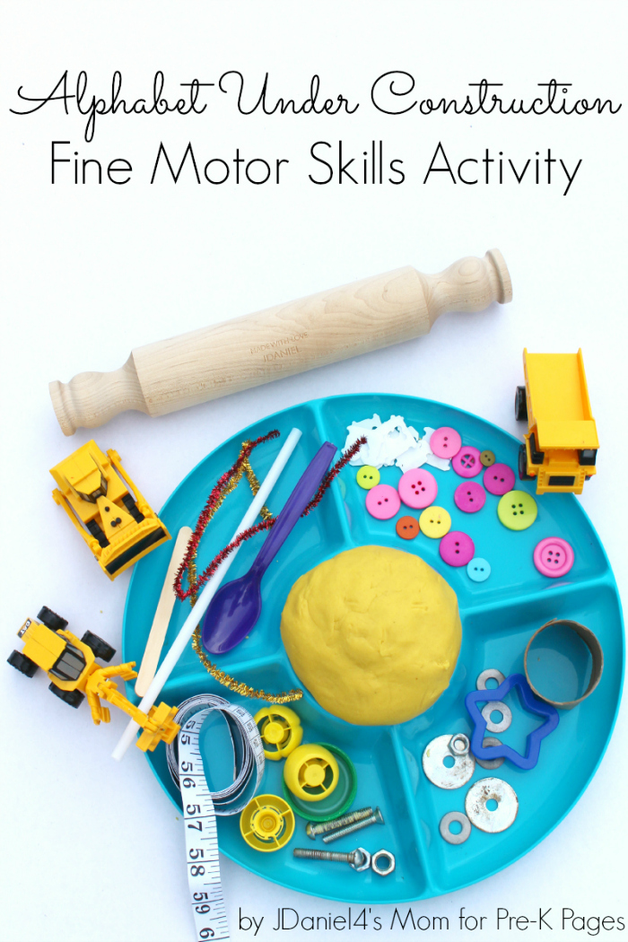 Alphabet Under Construction Fine Motor Activity for Preschool