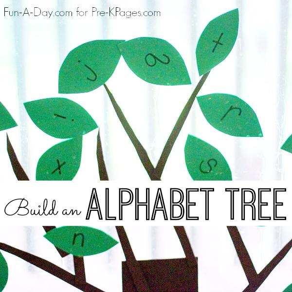build an alphabet tree for preschool