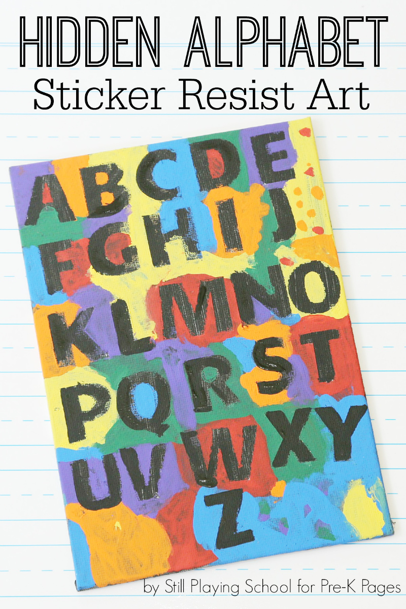 hidden alphabet sticker resist