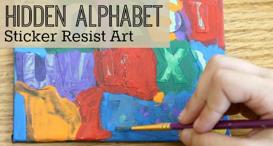 The Hidden Alphabet: Sticker Resist Art Activity