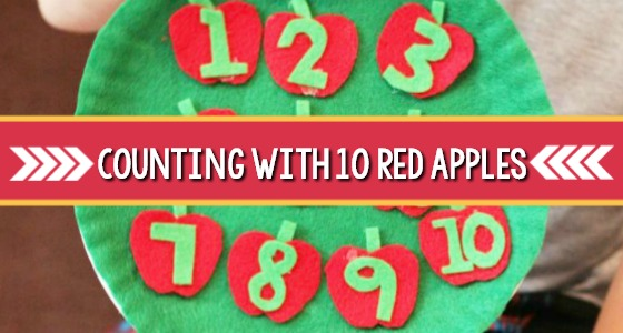 Counting with 10 Red Apples