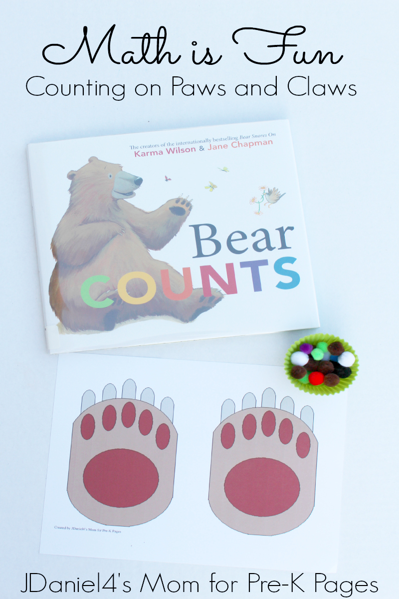 bear counting on paws for preschool