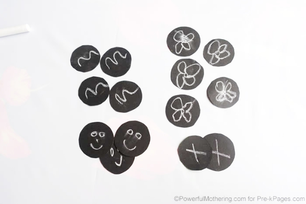 grouping sorting black circles