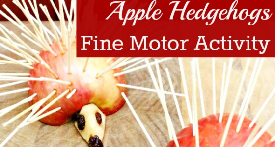 Apple Hedgehogs: Fine Motor Activity