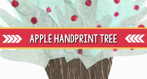 Apple Handprint Tree Art
