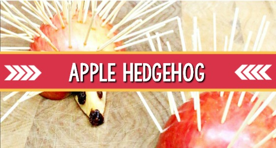 Apple Hedgehog Snack for Preschoolers