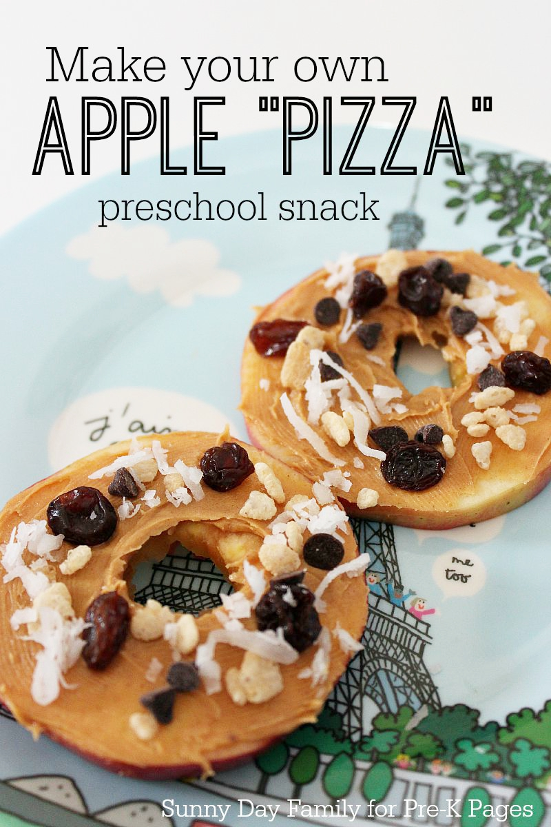 Apple Pizza Snack for preschool