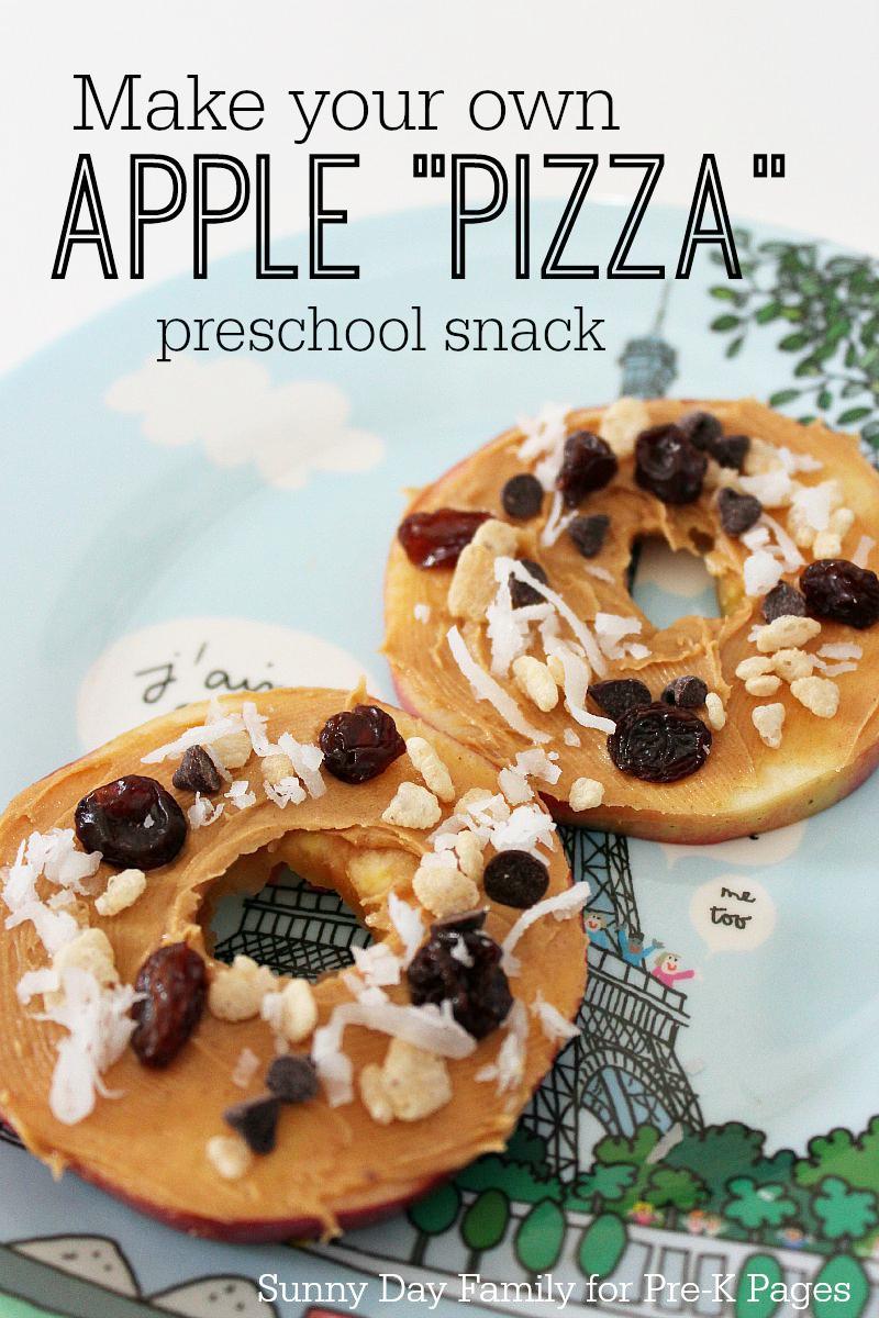 Apple Pizza Snack for preschool