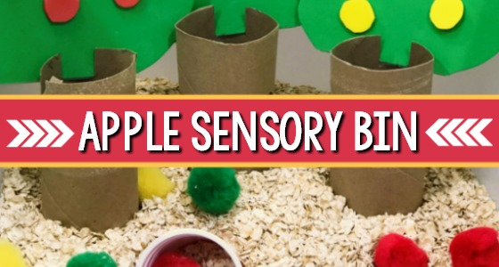 Easy Apple Sensory Bin For Fall