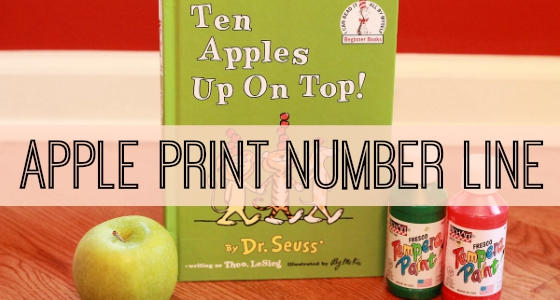 Ten Apples Up On Top Activity