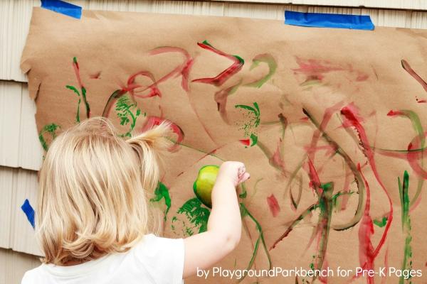 Ten Apples Up On Top Apple Prints for preschool