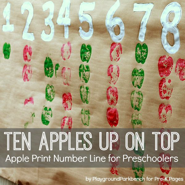 Ten Apples Up On Top Apple Number Line
