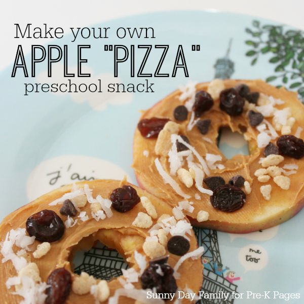 apple pizza snack activity